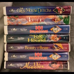 Disney Black Diamond VHS Collection Tapes Rare